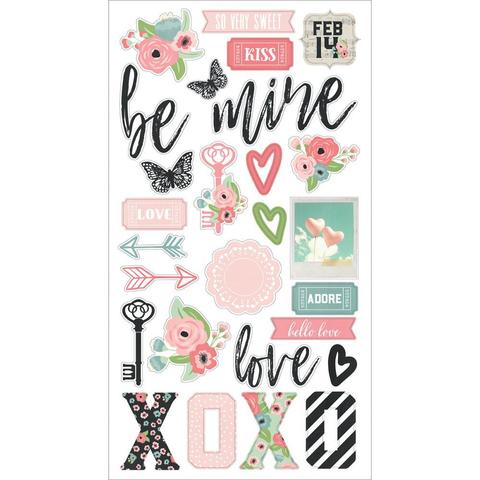 Чипборд 15х30 см Romance Chipboard Stickers