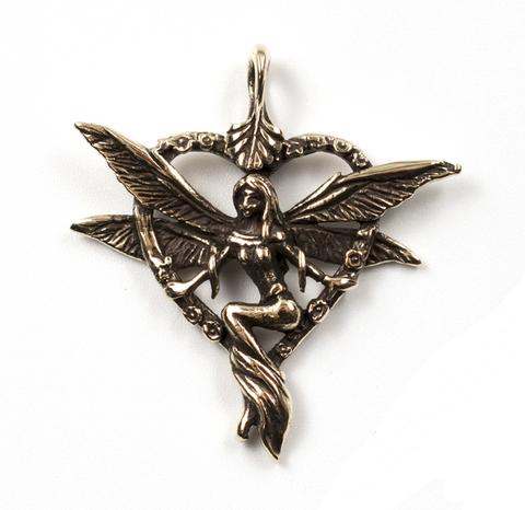 Кулон из бронзы Луридан Фея в сердечке отечественного производства RH00480