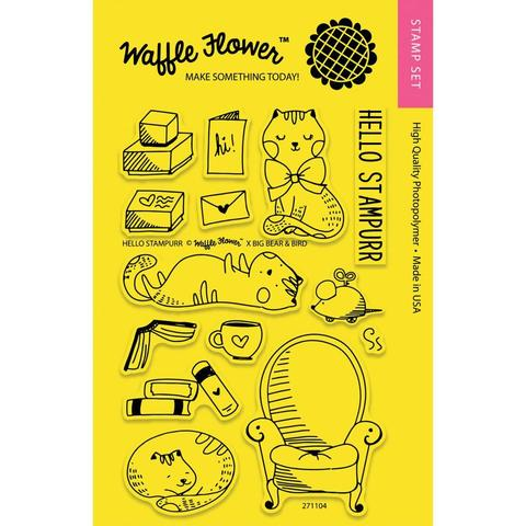 Набор штампов Waffle Flower Crafts Clear Stamps - Hello Stampurr