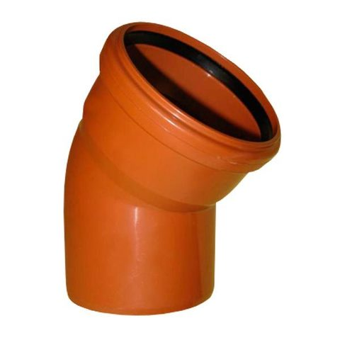 Угол канализационный Ø160х30° Millenium рыжий