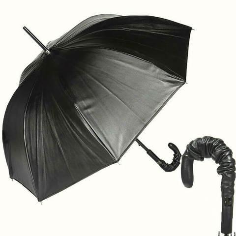 Купить онлайн Зонт-трость Jean Paul Gaultier 764-JPG кожаный в магазине Зонтофф.