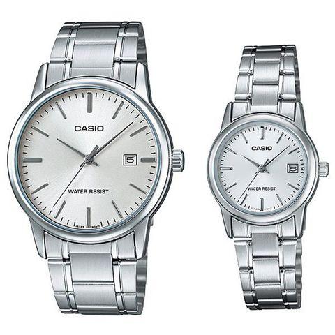 Купить Парные часы Casio Standard: MTP-V002D-7AUDF и LTP-V002D-7AUDF по доступной цене