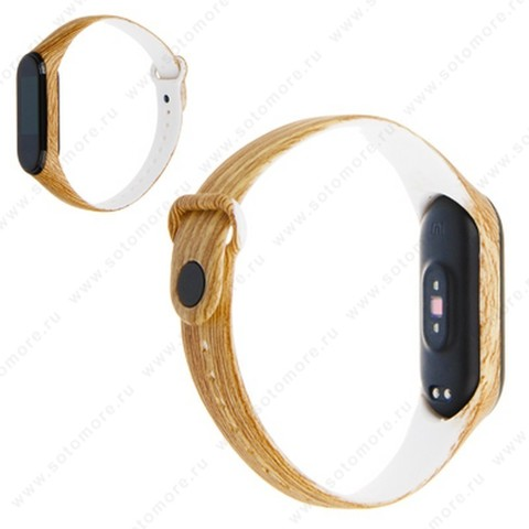 Ремешок для фитнес-браслет Xiaomi Mi Band 3/ 4 силиконовый с рисунком Вид 20