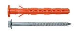 Дюбель фасадный Mungo MBK-STB 10х120 с бортиком и увеличенной рабочей зоной