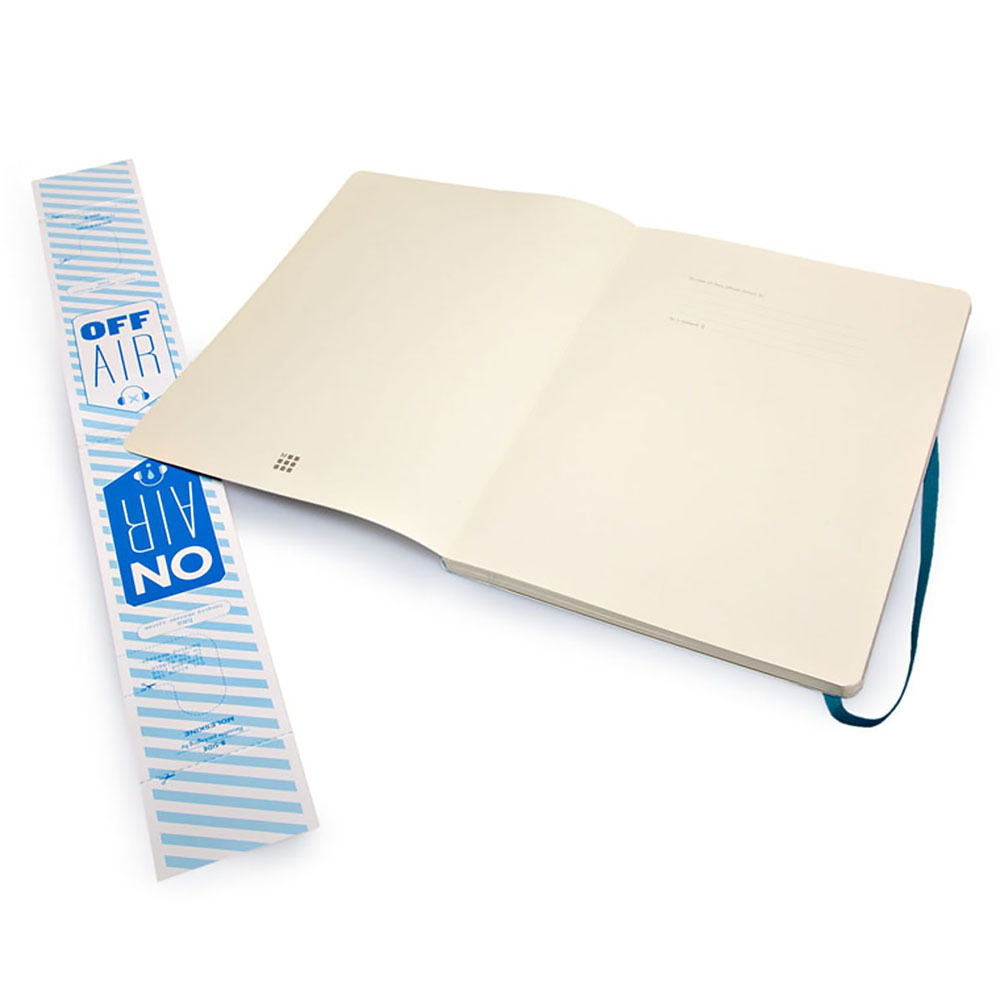 Блокнот Moleskine Classic Soft XL, цвет бирюзовый, в линейку