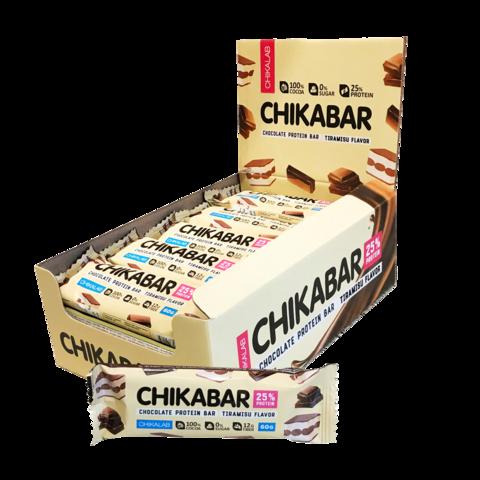 Протеиновый батончик Chikalab Тирамису с молочной начинкой, 60 гр