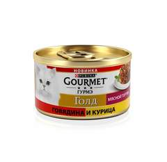 Gourmet Gold Мясной тортик говядина и курица 85 гр