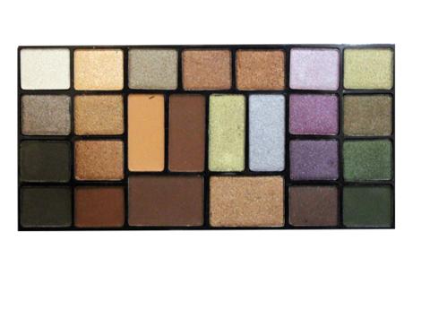 ТФ Тени Набор 25цветные Pearl&Matte тон 01 СТЕ-25-Коричневые оттенки с зеленой гаммой