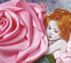 1738 Эльф и роза (23*33см) Набор Вышивка лентами