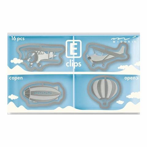Скрепки Midori E-Clips Air Vehicle (16 шт)