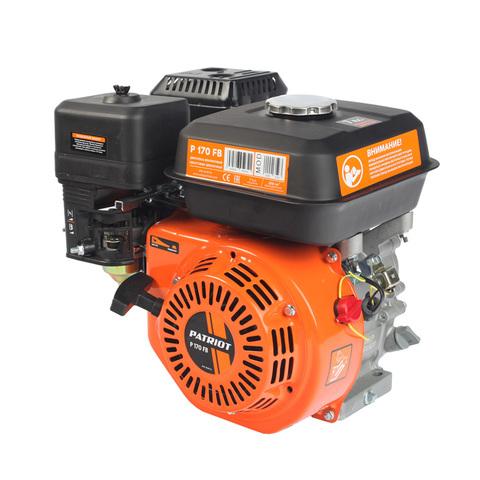 Двигатель PATRIOT P170FB, Мощность 7,0 л.с.; 208см³; 3600об/мин; бак 3,6л.; хвостовик 19,05мм, шпонка; вес 15 кг.