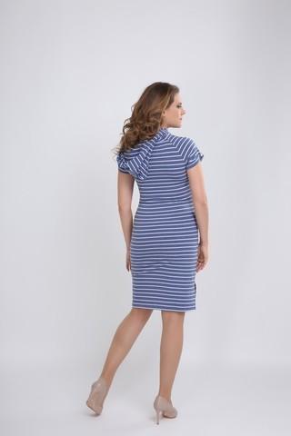 Платье 09580 синий в полоску