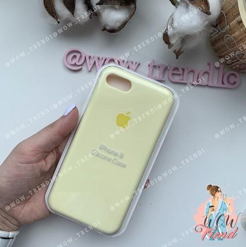 Чехол iPhone 7/8 Silicone Case /mellow yellow/ волшебно-желтый 1:1