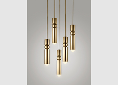 подвес FULCRUM LIGHT BRASS by LEE BROOM
