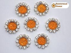Пупырышки в стразовом обрамлении оранжевые