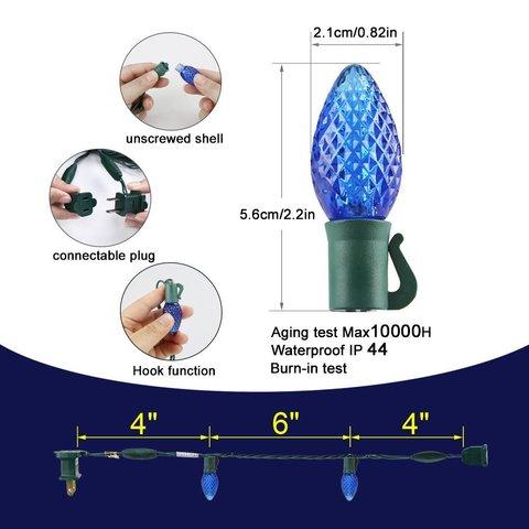 LED шарики шишки гирлянды