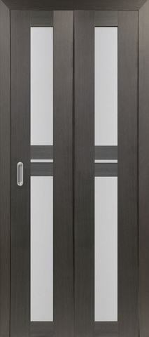 > Экошпон складная Optima Porte Турин 520.222  (2 полотна), стекло матовое, цвет венге, остекленная