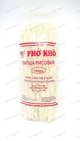 Лапша рисовая Thanh Loc, Pho Kho, Фо широкая, 500 гр.