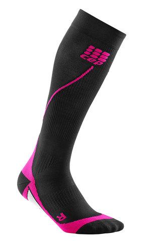Женские компрессионные гольфы CEP  black/pink (C12W 54)