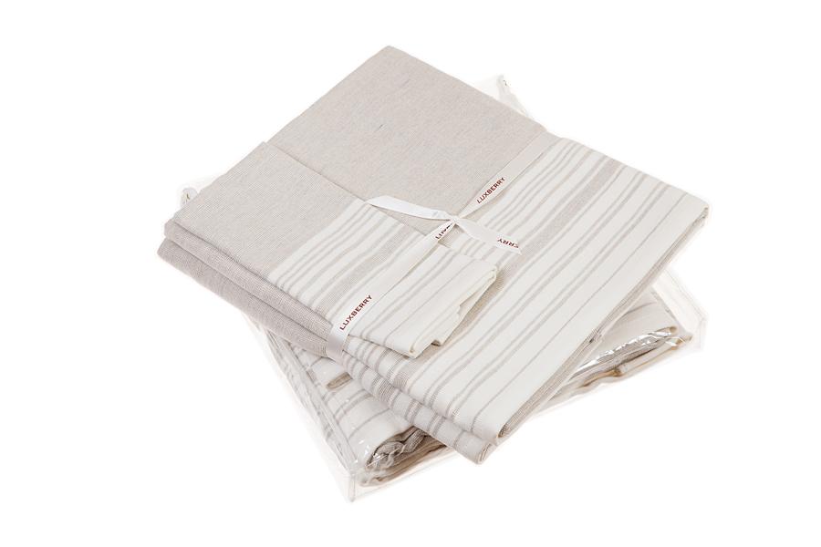 Наборы полотенец Набор полотенец 3 шт Luxberry SPA 3 белый/льняной nabor-polotenets-3-sht-luxberry-spa-3-belyylnyanoy-portugaliya.jpg