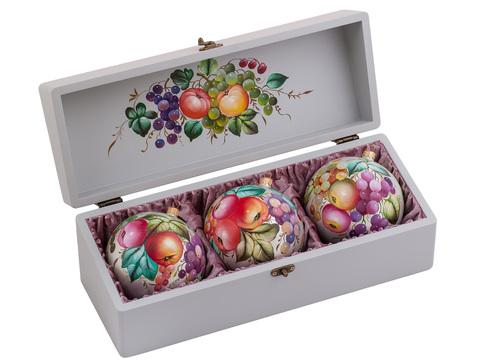 Набор из 3 елочных шаров в шкатулке SET04D-667785850