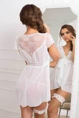 Белая сорочка женская бэби-долл