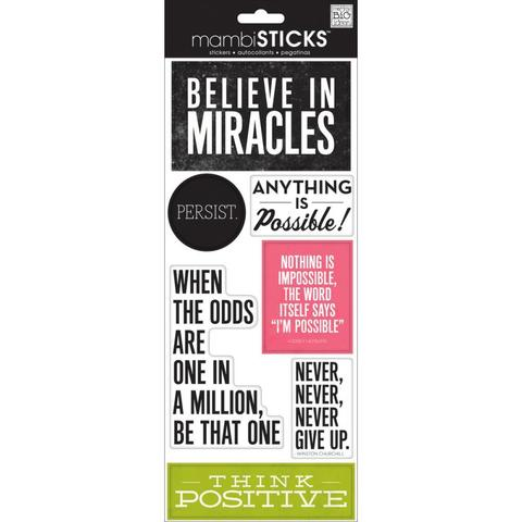 Стикеры mambi Specialty Stickers Believe In Miracles 13х30 см