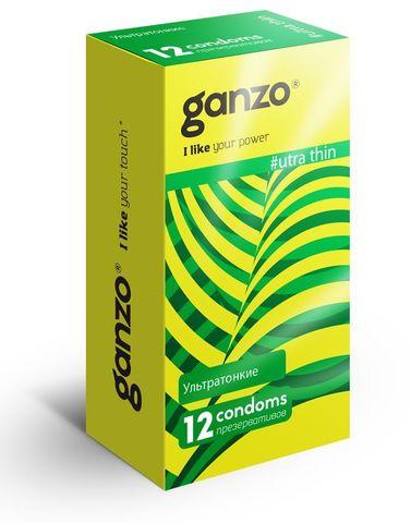 Ультратонкие презервативы Ganzo Ultra thin - 12 шт.