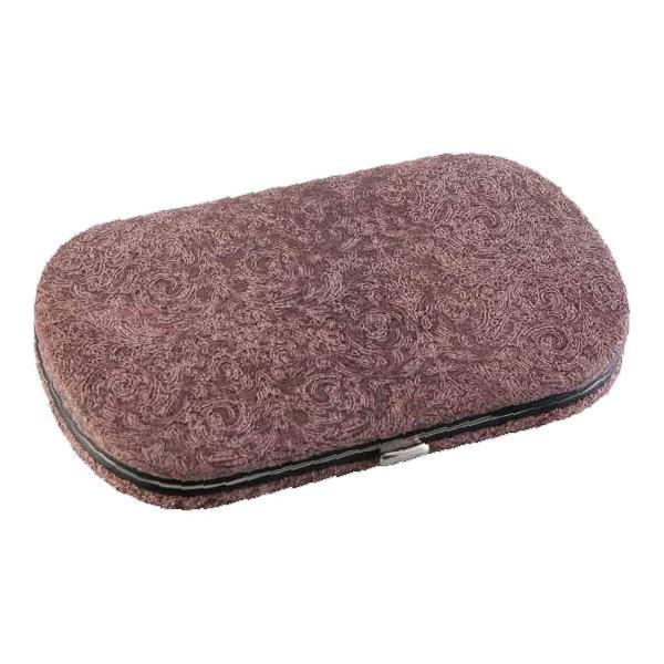 Маникюрный набор Dovo, 5 предметов, цвет розовый, кожаный футляр