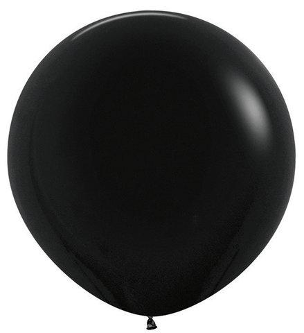 Шар (30''/76 см) Черный (080), пастель