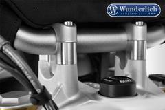 Проставки руля (без GPS) 25 мм BMW R1200R LC/RS LC серебро