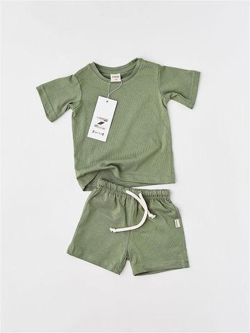 Комплект шорты+футболка (оливка)