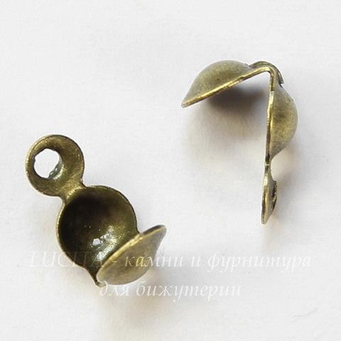 Каллоты 8х4 мм (цвет - античная бронза), 20 штук