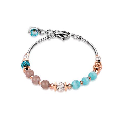 Браслет Coeur de Lion 4868/30-2000 цвет бежевый, голубой, белый