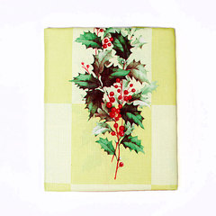 Скатерть круглая 178 Carnation Home Fashions Christmas Fabric Tablecloths Yuletide