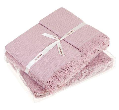 Набор полотенец 3 шт Luxberry Macaroni розовый