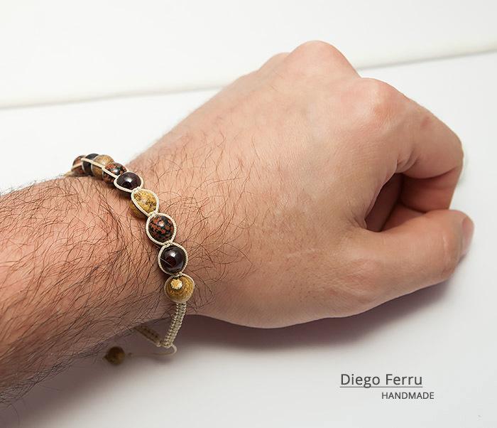 BS744 Красивый мужской браслет ручной работы, Diego Ferru фото 08