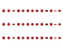 Гирлянда Круги Appl Red блеск 2,1м 6шт/A