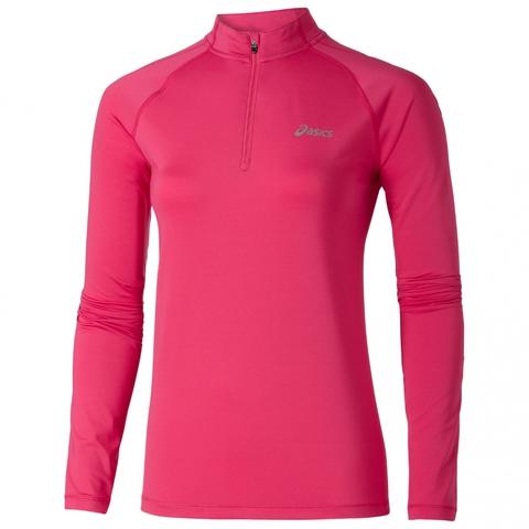 ASICS LS 1/2 ZIP TOP Беговая рубашка женская Pink