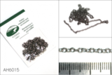 Цепь плетеная якорная - звено 3,0 х 2,0 мм (сталь), длина 50 см