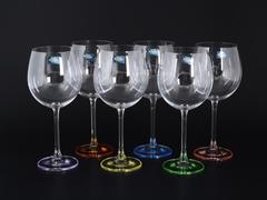 Набор из 6 цветных бокалов для вина GASTRO Арлекино, 650 мл
