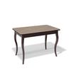 Стол KENNER 1100C, кухонный, стекло, раздвижной, капучино/венге