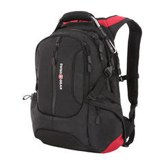 "Рюкзак Swissgear 15"", черный/красный, 36х17х50 см, 30 л"