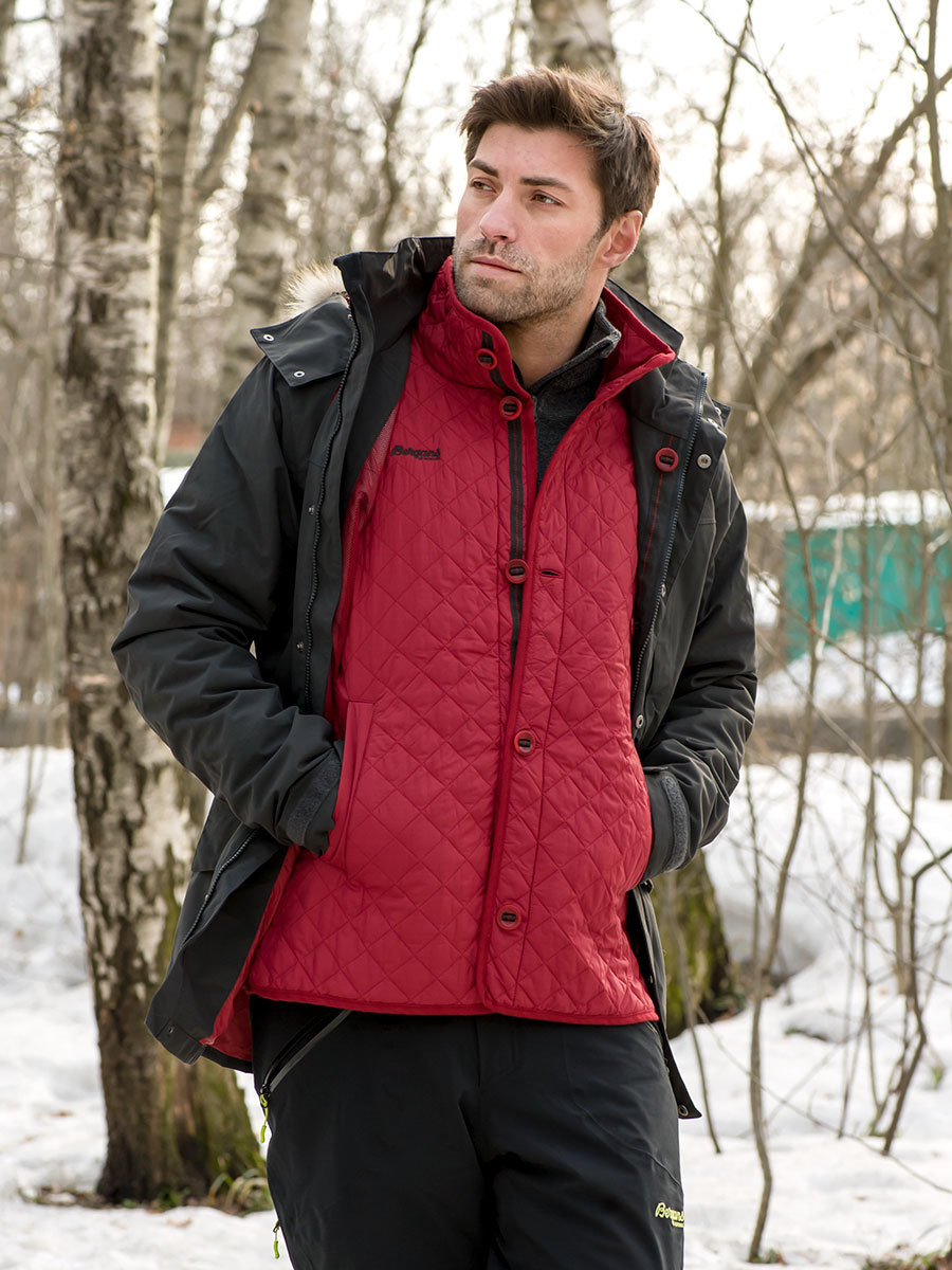 Bergans парка 7522 Aune 3in1 Jacket Solid Charcoal