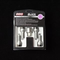 Комплект болтов колесных секретных BBS black (4 болта M14x1.25x32.0 KE60°)