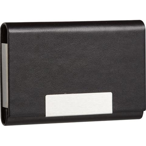 Визитница карманная черного цвета на 20 визиток 80102