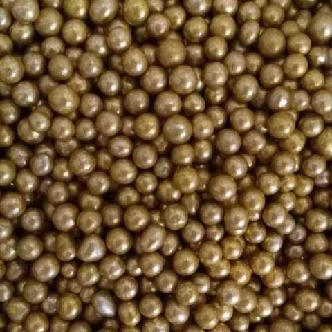 Посыпка Шарики золотые матовые 4 мм