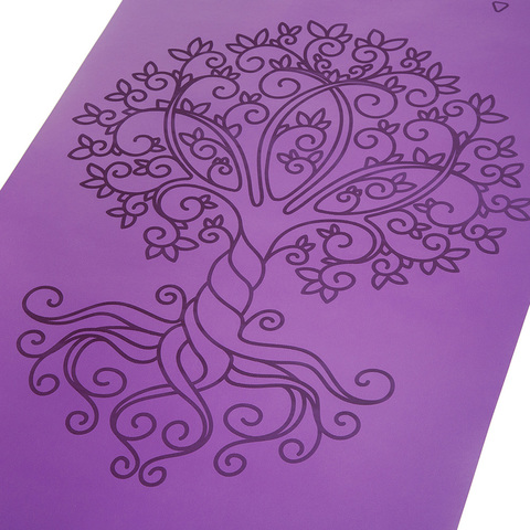 Каучуковый йога коврик Tree of Life с разметкой 185*68*0,4см