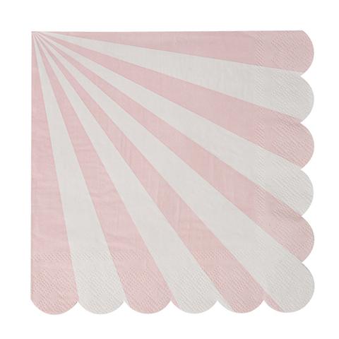 Салфетки в розовую полоску, большие