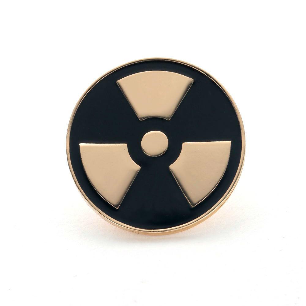 Брошь Радиация (золотой цвет)